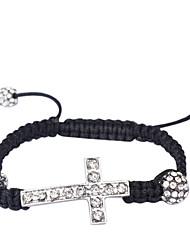 Woven Bracelet with Cross