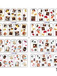 4pcs 2D Other Finger Nail Sticker