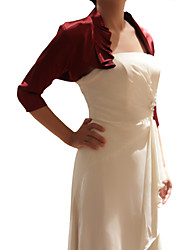 Elegant 3/4 Sleeves Satin Special Occasion Evening Jacket/Wrap (More Colors) Bolero Shrug