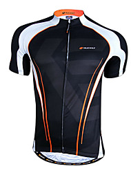 Nuckily Men's Short Sleeve Bike Breathable Quick Dry Front Zipper Wearable Tops 100% Polyester Spring Summer Cycling/Bike