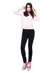 92% Mujer manga larga de algodón para no Deformación Suits (jersey + pants)