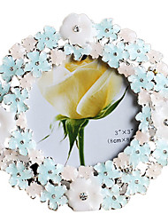 """3 """"Picture Frame floral moderno do metal"""