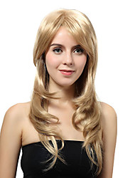Capless Long Blonde Straight Synthetic Wigs