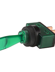 Car Toggle Switch with Green LED Indicator (DC 12V, Vehicle DIY)