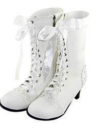 Zapatos Amaloli Hecho a Mano Tacón alto Zapatos Un Color 6 CM Blanco Para Mujer Cuero Sintético/Cuero de Poliuretano