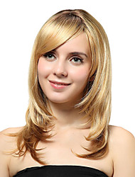 Capless Medium Blonde Straight Synthetic Wigs