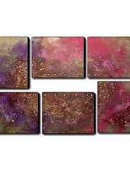 Peint à la main Abstrait Plus de Cinq Panneaux Toile Peinture à l'huile Hang-peint For Décoration d'intérieur