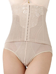 Chinlon High Waist Front Busk Closure Shaper Brief Daily Wear Shapewear