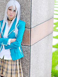 Inspired by Rosario and Vampire Cosplay Anime Cosplay Costumes Cosplay Suits Patchwork Blue Top