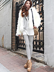 Charming Long Sleeve Hooded Collar Casual/Evening Faux Fur Jacket(More Colors)