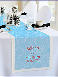 Table Centerpieces Personalized Reception Desk Table Runner - light Blue Print  Table Deocrations