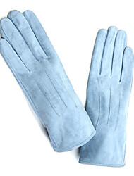 Модные перчатки, из кожи теленка