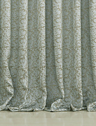 (Two Panels) Traditional Polyester Flame-retardant Room Darkening Curtain