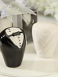 Outils de cuisine(Blanc Noir)Thème classique-Non personnalisée 8*3.5*6cm Céramique
