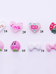 10pcs 3D Resinic Strawberry Nail Decorations