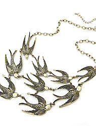 golondrinas encanta el collar collar de gargantilla tono de bronce de época
