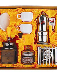 Coffee Series Boxed Gift (Moka & Siphon Pot, Grinder, Cups)T-006