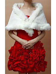 Nizza Faux Fur Wedding / Evening Wraps / Schals mit Blumen Pin
