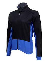 JAGGAD Cycling Tops / Jacket Men's Bike Front Zipper / Windproof / Thermal / Warm / Fleece Lining Long Sleeve Fleece Red / BlueS / M / L