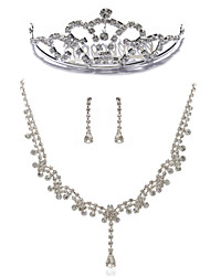 Gorgeous Rhinestones Wedding Jewelry Set,Including Necklace,Earrings And Tiara