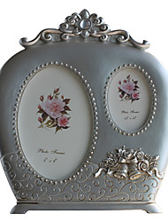 """6 """"3.5"""" País Floral Picture Frame Polyresin"""