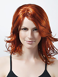 Capless Long High Quality Synthetic Golden Brown Curly Hair Wig 0463-456