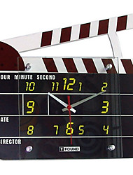 "12 ""h moderm clap-stick horloge murale"