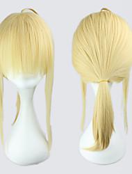 Cosplay Wigs Fate/Zero Saber Golden Medium Anime Cosplay Wigs 45 CM Heat Resistant Fiber Female