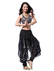 Dancewear Chiffon with Sequins Belly Dance Performance Top and Bottom for Ladies