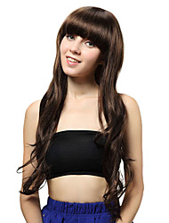 Capless Long Brown Curly Synthetic Wigs