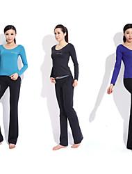 Yoga Casual Sportswear Suits 2 Sätze (Langarm Yoga T-Shirt + Yoga Pants)
