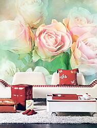 Pink Roses Blumen Natur Mural