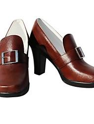 ciel phantomhive sandalias de cosplay marrón