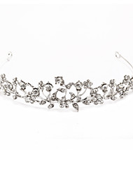 Silver Alloy Rhinestone And Pearl Bridal Tiara