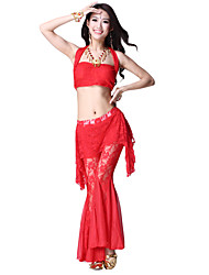 Dancewear Lace Belly Dance Top and Bottom for Ladies More Colors