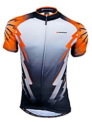 NUCKILY Men's Cycling Tops / Jerseys Short Sleeve Bike Spring / Summer Front Zipper / Wearable / Breathable / Quick Dry WhiteS / L / XXL
