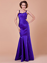 Lanting Bride® Trumpet / Mermaid Plus Size / Petite Mother of the Bride Dress Floor-length Sleeveless Satin withDraping / Criss Cross /