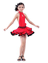dancewear Spandex mit Blumen latin dance dress für Kinder