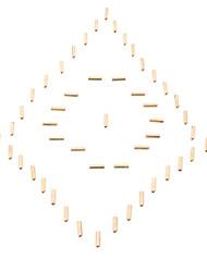 M3 x 15mm Cylindre en laiton hexagonale (50 PCS, Golden)