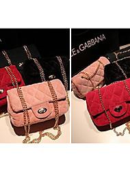 Women's Trendy Sweet Suede Diamond Check Mini Bag  (18*6*10CM)
