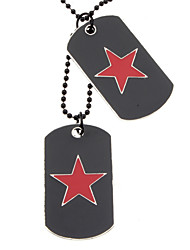 Double-faced Oil Drip Five-pointed Star Necklace