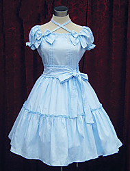 Short Sleeve Knee-length Cotton Sweet Lolita Dress