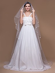One-tier Chapel Wedding Veils With Scalloped/Pencil Edge (More Colors)