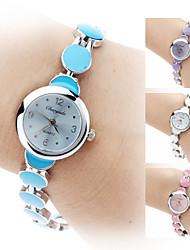 Damen Armband-Uhr Quartz Band Elegante Schwarz Weiß Blau Rosa Lila Marke