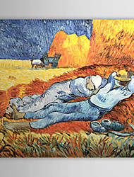 Hand-painted Oil Painting Midday RestC.1890 Vincent Van.Gogh  with Stretched Frame