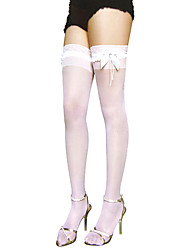 lace Bow With Jewel Casual Lolita Stockings