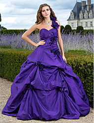 TS Couture Prom Formal Evening Quinceanera Sweet 16 Dress - Vintage Inspired A-line Ball Gown Princess One Shoulder Sweetheart