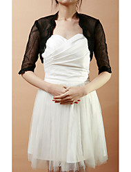 Half-Sleeve Lace & Net Wedding/Evening Evening Jacket/Wrap (More Colors) Bolero Shrug
