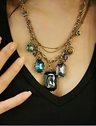 Women's Vintage Gem Necklace