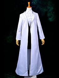 Inspiré par Inu x Boku SS Ririchiyo Shirakiin Anime Costumes de cosplay Costumes Cosplay Mosaïque Blanc Manche LonguesCape / Robe /